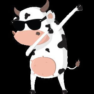 Lustige Kuh mit Sonnenbrille