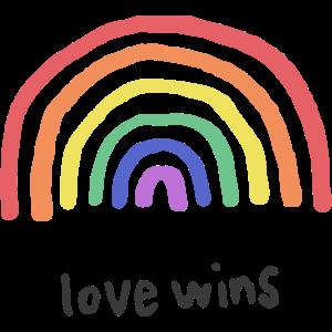 Liebe Grafik Liebe gewinnt Regenbogen