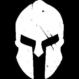 Spartaner Helm neu weiß