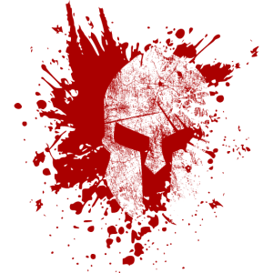 Spartan with blood new