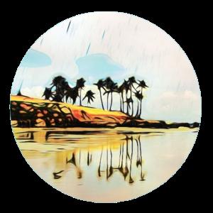 Suedsee Strand Palmen Karibik Urlaub Geschenk