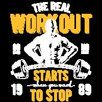 WORKOUT GYM Fitness Sport Workout Geschenke Shirt
