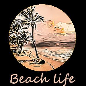 Leben am Strand Geschenk