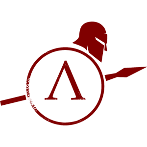 spartan with shield red