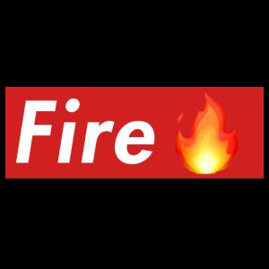 Fire Box Logo mit Flamme