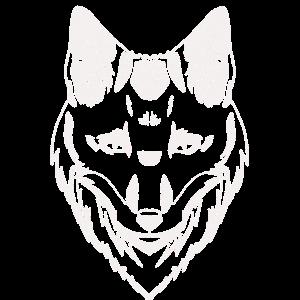 Fuchs Kopf weiß