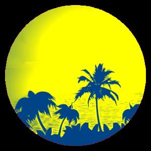 Meer hinter Palmen, Popart Geschenkidee