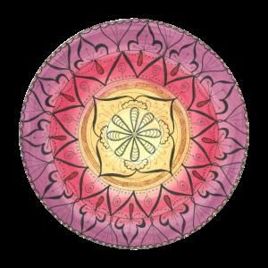 """Mandala """"Oriental Glitter Sinnlichkeit"""" handgemalt"""
