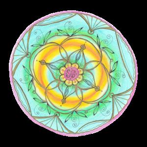Mandala handgemalt by Sylvia Polis