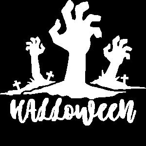 Halloween Hand kommt aus Grab