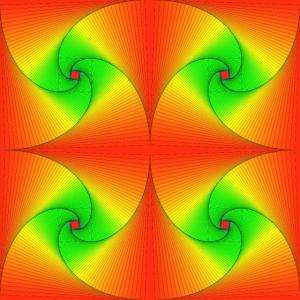 Pursuit Kurven in rot und grün