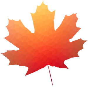 Herbst Blatt Polygon