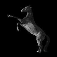 Steigendes Polygon Pferd retro pony geschenk