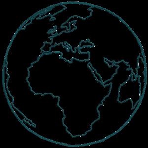 Planet Erde Zeichnung zeichnen blaues Symbol Spur g