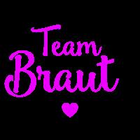 Team Braut mit Herz JGA Party pink