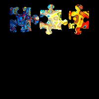Abstrakte Puzzelstuecke farbenfrohes Design y