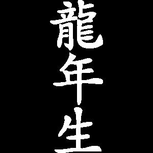 Kanji Schriftzeichen - Im Jahr des Drachen geboren