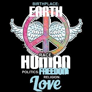 Politische Freiheits-Hemd der Geburtsort-Erdrasse