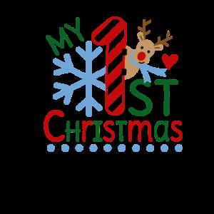 MY 1st CHRISTMAS - Weihnachten Rentier Baby Shirt