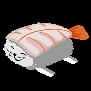 Sushi Katze Reis Essen Fisch Staebchen