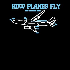 Luft & Raumfahrt Techniker Pilot Flugzeug Geschenk