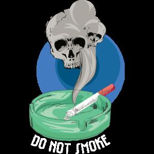 Nicht rauchen, der Rauch bringt dich um