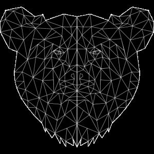 Dunkler geometrischer Bär