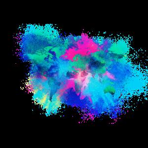 Bunte Weltkarte farbenfroh