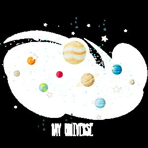 Mein Universum Planeten Milchstraße Geschenk Idee