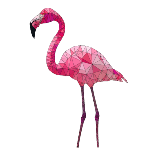 0028.1 Polygon Flamingo 1 (farbig)