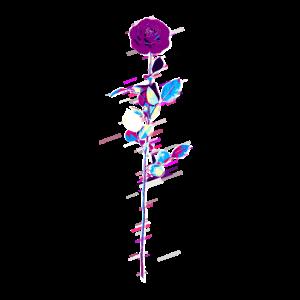 Blumen Blumen- 80er Retro Violett