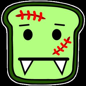 Zombie Toast Halloween Geschenkidee