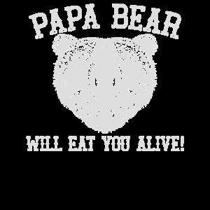 Papa Bär wird Sie lebendig Weiß