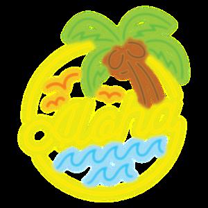 Aloha - Neon Hawaiian 80er Retro Design
