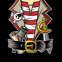 Pirat Kostüm T-Shirt Design