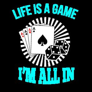 Poker Karten Spiel Casino Chips Maennerabend