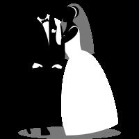 Coole Pose mit Braut und Bräutigam / Brautpaar