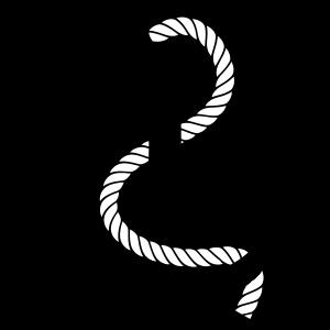 Anker mit schlängelndem Seil - Logo Motiv Design