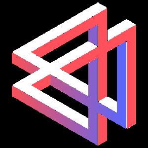 Dreieck Farbverlauf Geometrie Perspektive Illusion