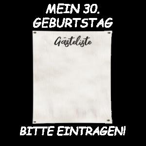 MEIN 30 GEBURTSTAG BITTE EINTRAGEN