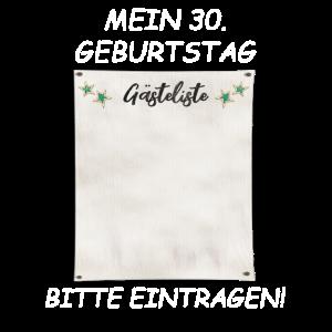 MEIN 30 GEBURTSTAG BITTE EINTARGEN