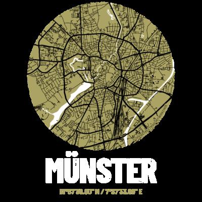 Münster – City Stadtplan Map Karte (olivgrün) - Münster – die Fahrrad-Metropole als abstrakter Stadtplan. Perfekt für echte Münsteraner*innen und alle, die diese Stadt lieben – auch als stilsichere Geschenkidee! Karte: © OpenStreetMap-Mitwirkende - Olivgrün,Map,Münsterland,Plan,City,Straßenkarte,Stadtkarte,Grunge,Landkarte,Münsteraner,Karte,Open Street Map,Münsteranerin,Grün,Abstrakt,Straßen,Viertel,Urban,Kiez,Oliv,Vintage,Stadtplan,Nordrhein-Westfalen,Münster,Aa