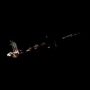 Flugzeug Outline mit Schwarzem Nachthimmel