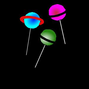 Lollipop Lolli Lutscher Planet Illustration