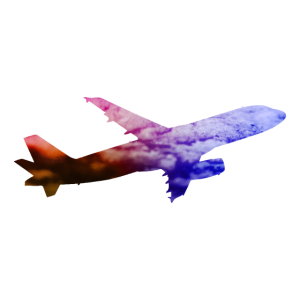 Farbiges Flugzeug / Space Galaxie