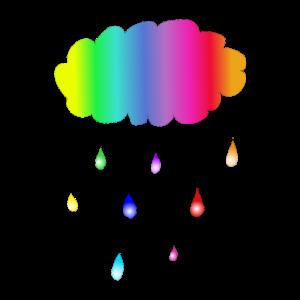Wolke Bunt Regenbogen Regen