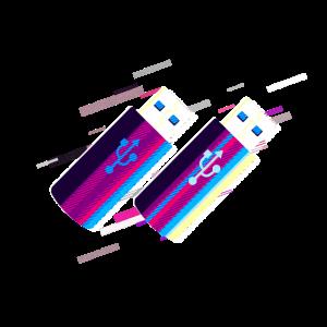 Stock Stick 80er Retro Violett