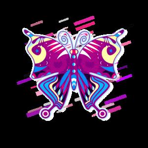 Schmetterling Vierzig 80er Retro Violett