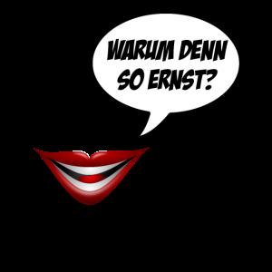 Warum denn so ernst?   Joker Film Motiv   Zitat