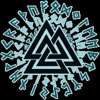 Valknut Wotansknoten Wikinger Symbol Dreieick